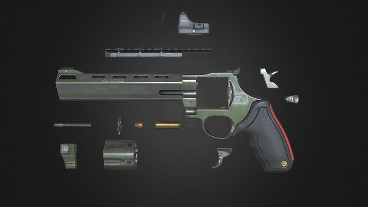 Taurus 454 Raging Bull Exploded 3D Model