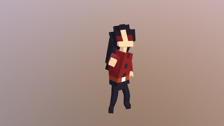 Voxel test character 3D Model