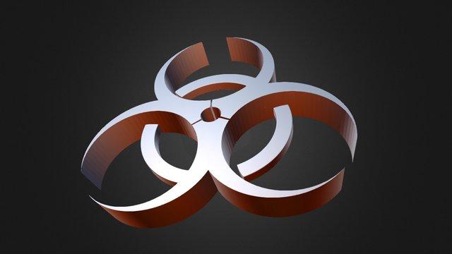 Biohazard logo 3D Model
