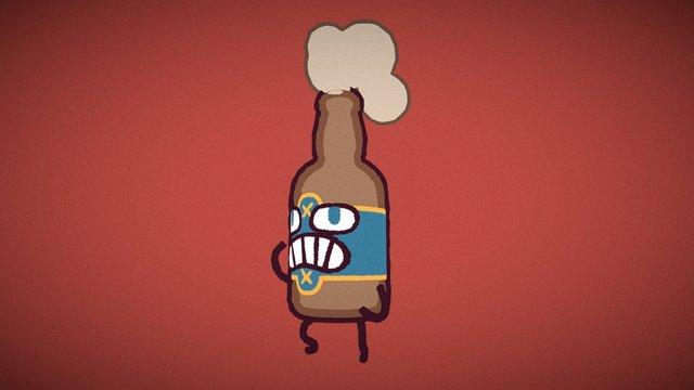 Brawling Bottle O' Beer 3D Model