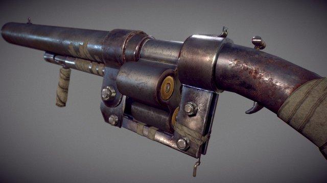 Handmade Shotgun 3D Model
