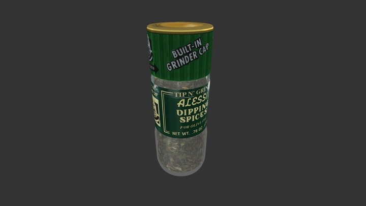 Dipping Spices Grinder High 3D Model