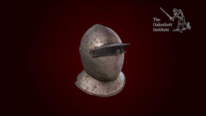 Savoy Helmet - Visored Close Helm 3D Model