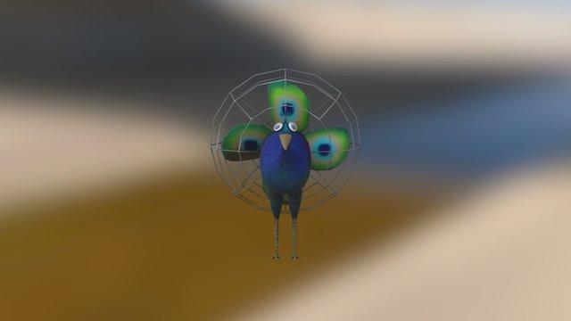 #3December Day 2: Electric Fan Peacock 3D Model
