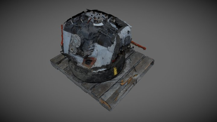 Reciprocating Aircraft Engine 3D Model