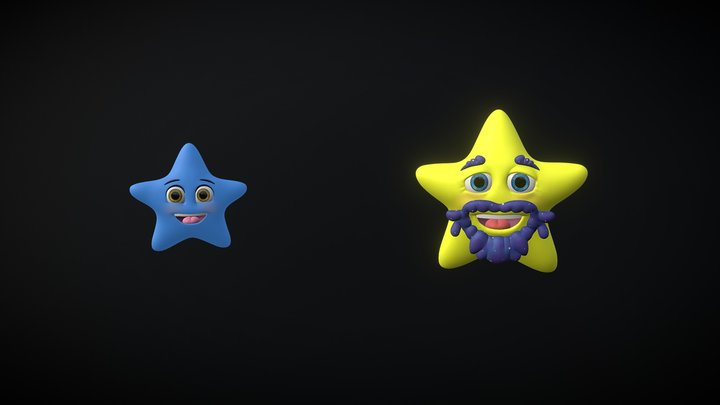 The Christmas Star | New Star and Old Star 3D Model