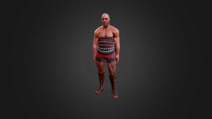 Gladiator Mixamo Test 3D Model