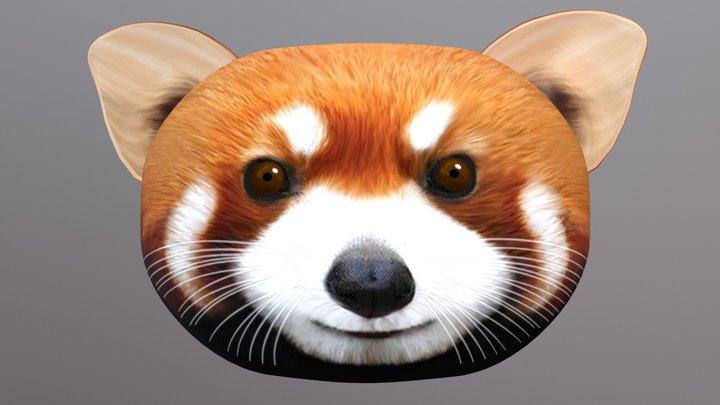 Red Panda Pillow 3D Model
