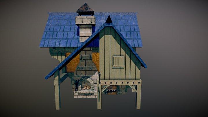 Maison_Finale_Textures_Génériques 3D Model