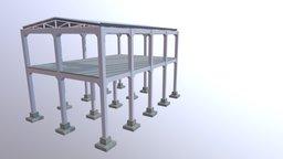 Projeto estrutural com peças Pré-Fabricadas - 1 3D Model