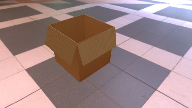 Cardboard Cartoon 3D Model