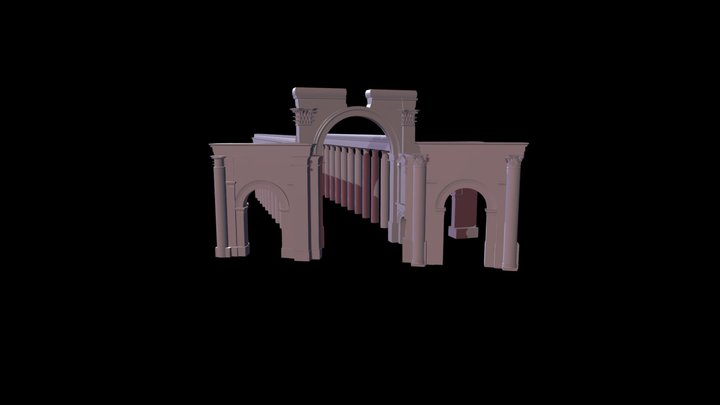 Triumphal Arch (with Colonnade) 3D Model