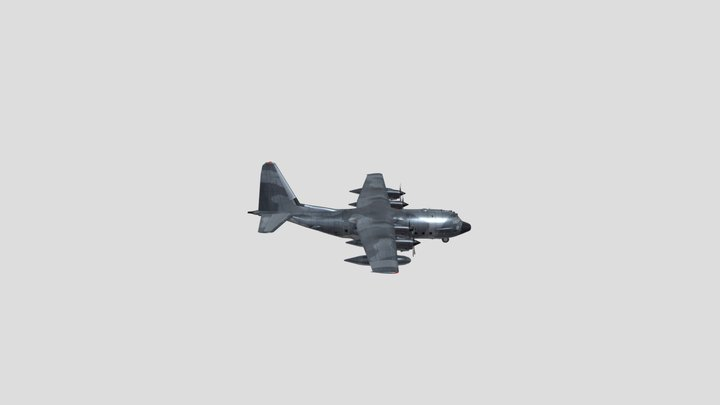 Lockheed AC-130J Ghostrider 3D Model