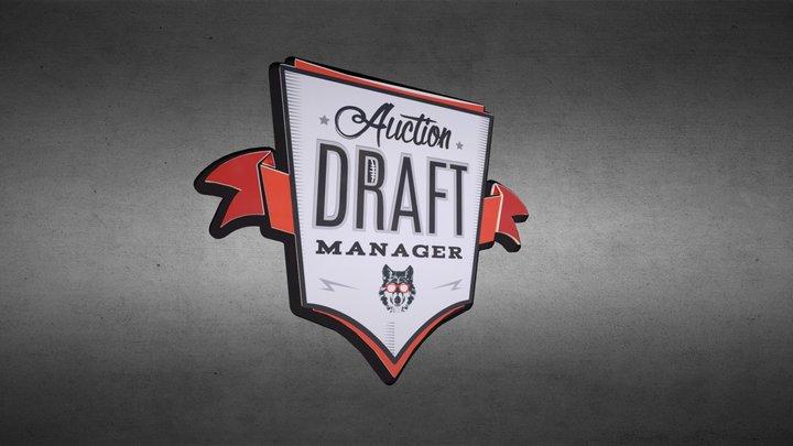Auction Draft Logo 3D Model