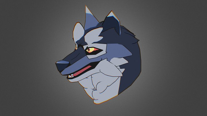 Wolf-Head for NPC 3D Model
