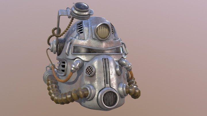 Fallout: T51b Power Armor Helmet 3D Model