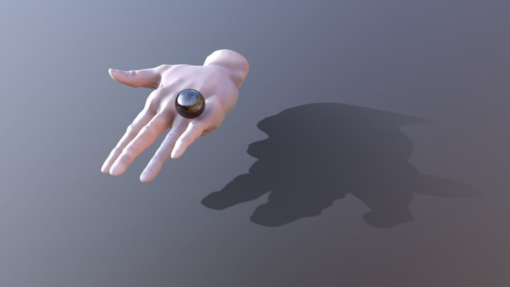 Hand with ball 3D Model