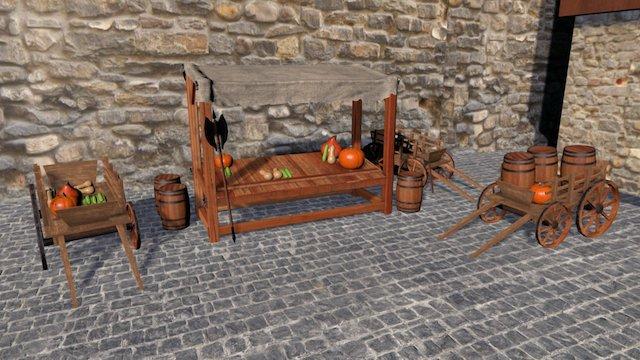 Medieval Scene 3D Model
