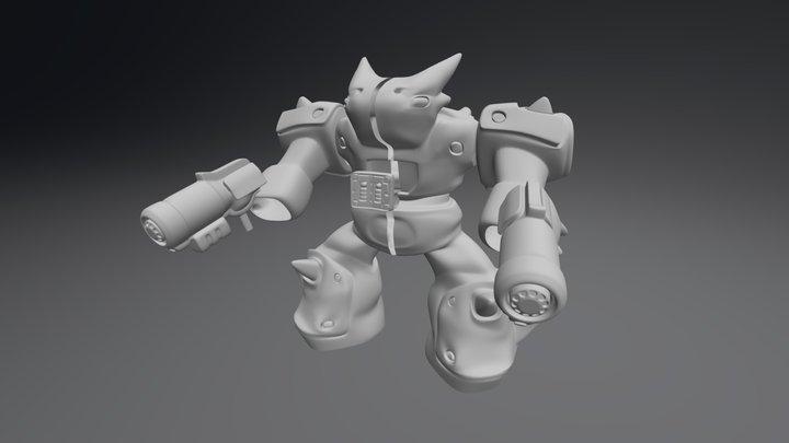 Clean Hi 3D Model
