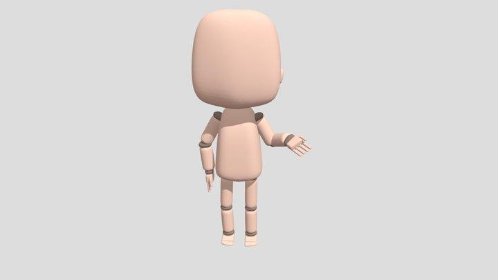Chibi Mannequin 3D Model