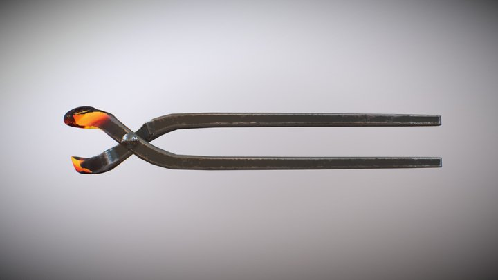 Melted Tongs 3D Model