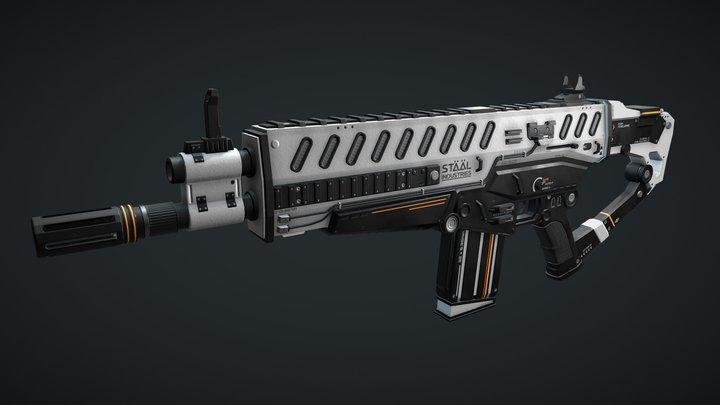 Scar-U DL66 Automatic Rifle - Sci-Fi Rifle 3D Model
