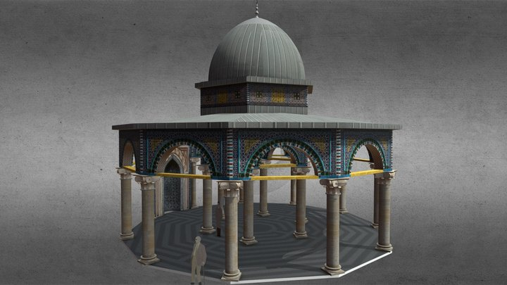 Dome Of The Chain, Jerusalem Temple Mount 3D Model