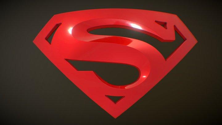 Superman Returns Shield 3D Model