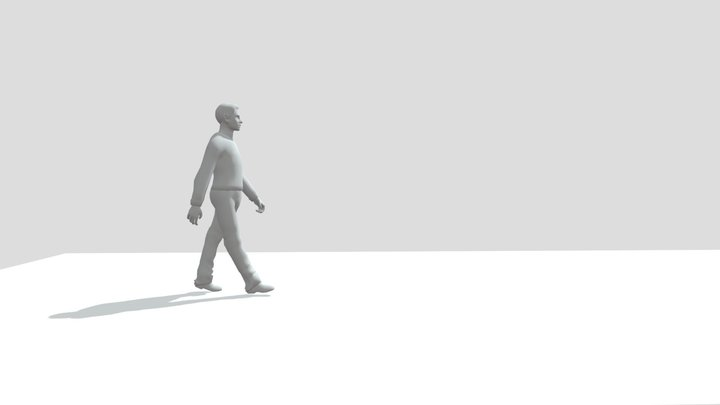 walk cycle 3D Model