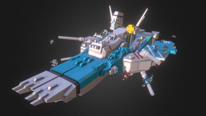 SD Macross SDF-1 Macross Launch! 3D Model