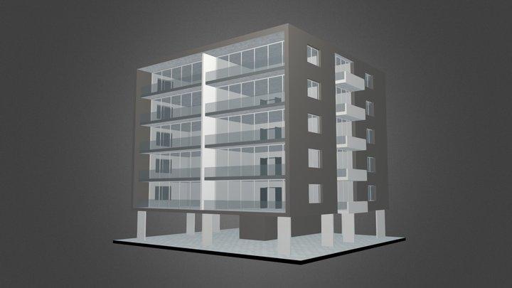 The Box Building 3D Model