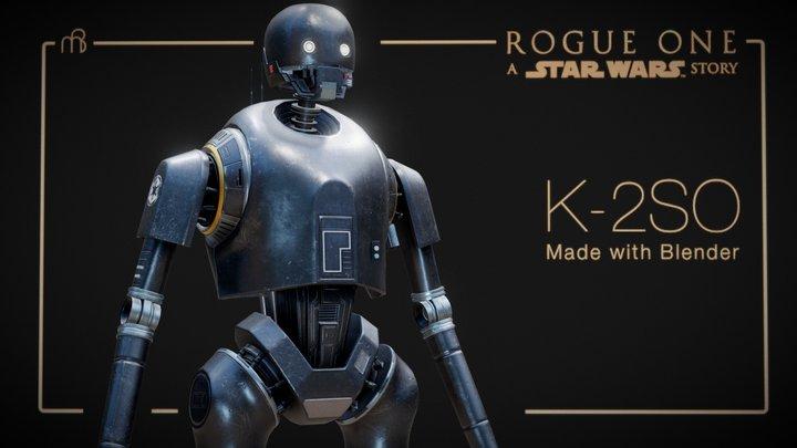 Star Wars - K2SO highpoly (rigged) 3D Model