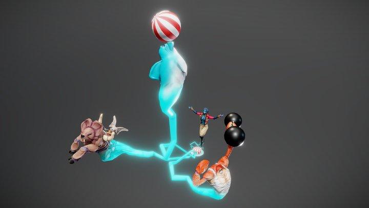 Portable circus 3D Model