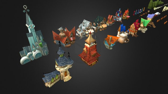 Stylized Fantasy Collection 3D Model