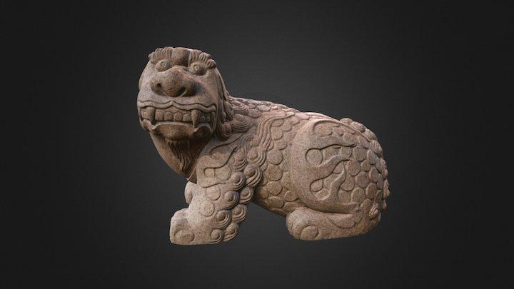 Haetae (Korean Foo Dog statue) 3D Model
