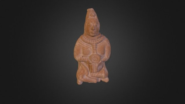 Terracotta Seated Woman 3D Model