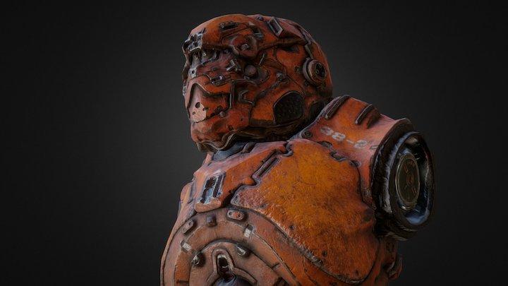Armor bust 3D Model