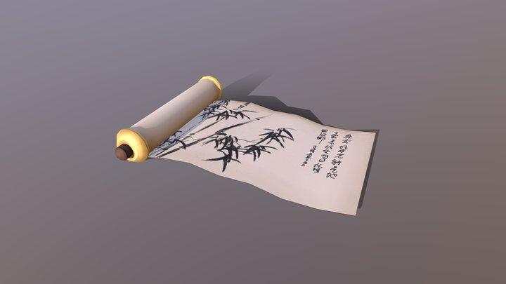 Prop Modelling: Scroll 3D Model