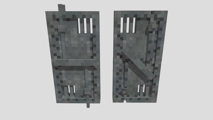 Steel doors 3D Model