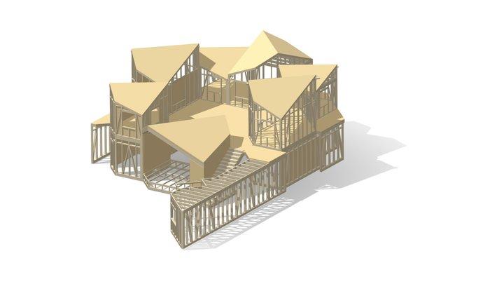 Struttura ricettiva a telaio a Lleida, Spagna 3D Model