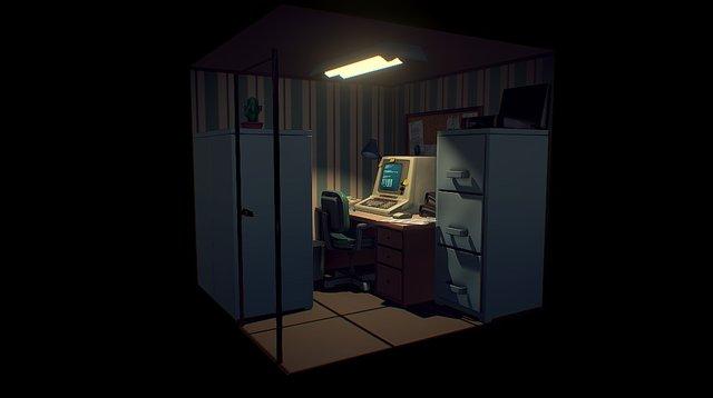 Sad Office Room 3D Model