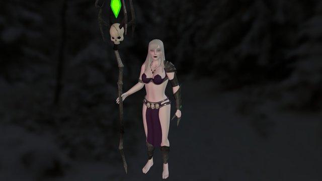 Kuylea The Necromancer 3D Model