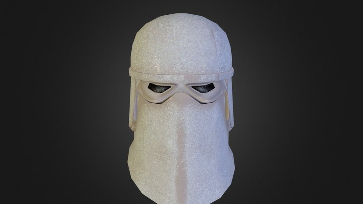 Snow Trooper Helmet 1 hour challenge 3D Model
