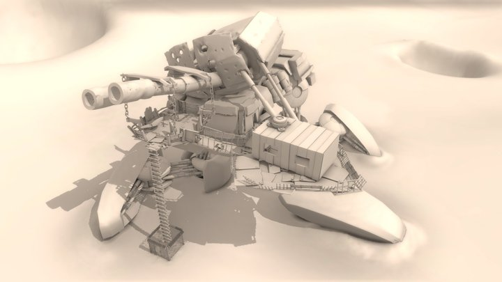 Fallen Titan 3D Model