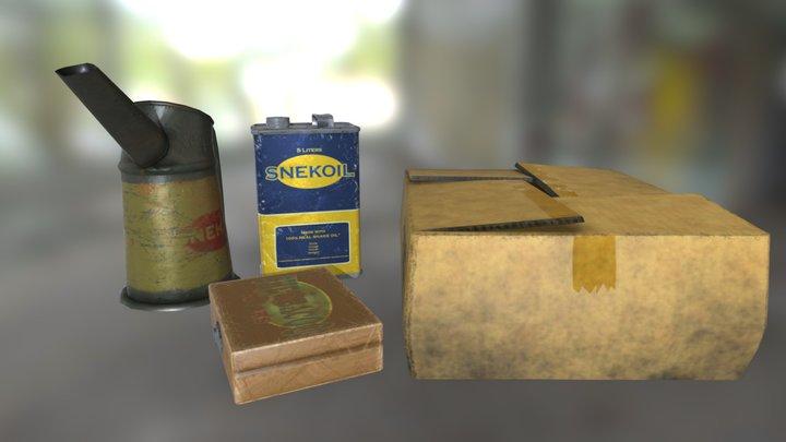 Miscellaneous Props 01 3D Model