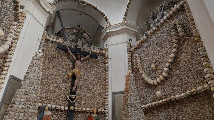 Kolín kostnice interiér/Kolín ossuary interior 3D Model