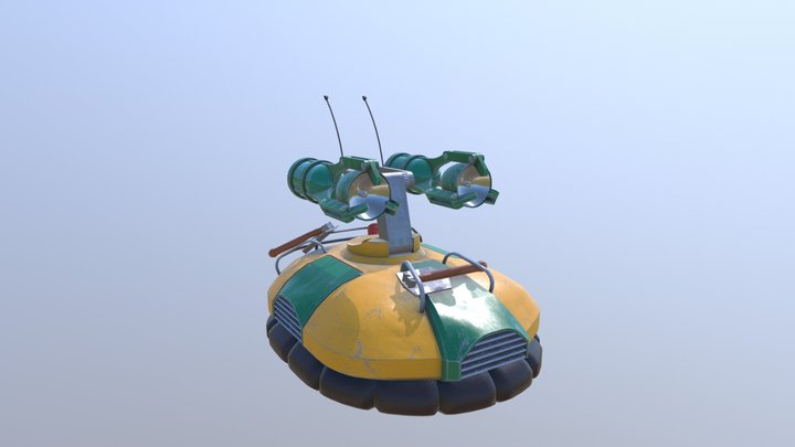 LBA Surveillance Robot 3D Model