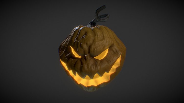 Halloween Jack-o-Lantern 3D Model