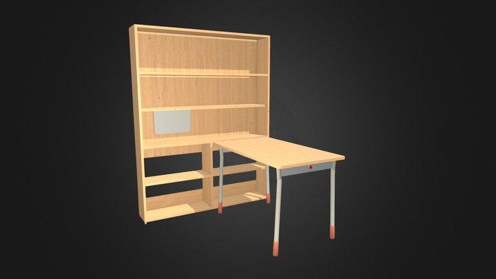 Desk Set for Children 3D Model