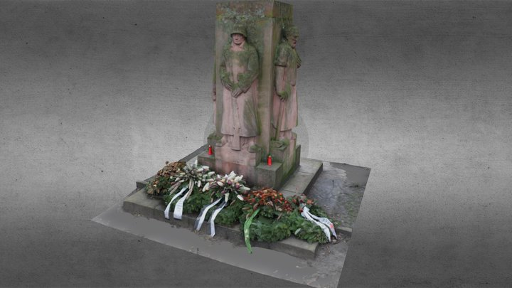 War memorial, Gelnhausen 3D Model